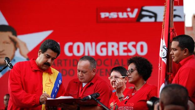 Venezuelan President Nicolas Maduro, and President of the National Assembly of Diosdado Cabello (PSUV)