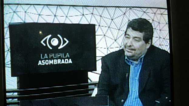 Screen shot of the Cuban television program 'The Amazed Pupil' directed by Iroel Sanchez.