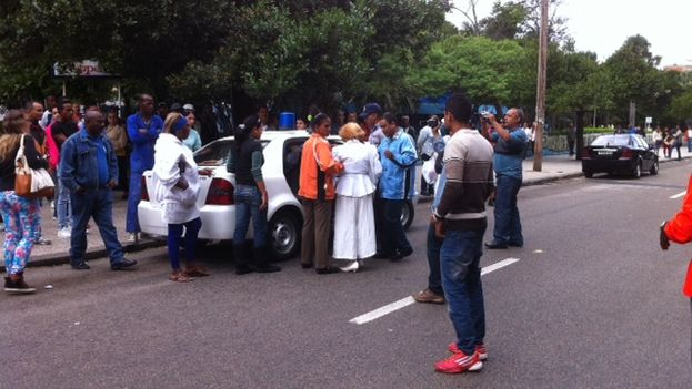 Ladies in White arrested in Havana on Human Rights Day 2014.