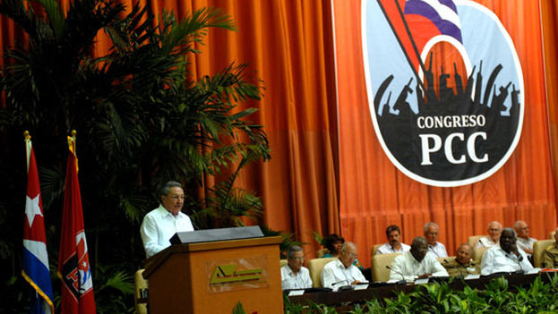 President Raul Castro at the inauguration of the Sixth Congress of the Communist Party of Cuba.
