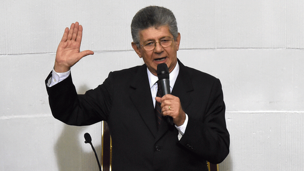 Opposition lawmaker Henry Ramos Allup is the new president of the Venezuelan National Assembly. (MUD)