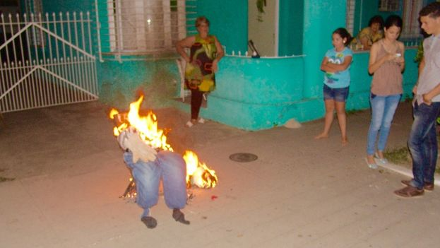 Burning the old year is one of the Cuban traditions of celebrating New Year's Eve. (JC Fernandez)