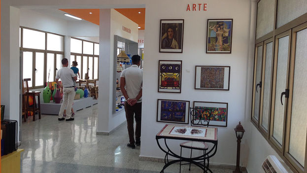 The shop for Artex objects is one of the few areas of the complex that is already up and running. (14ymedio)