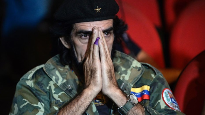 "A ""Venezuelan Che Guevara"" after finding out the election results (Internet photo)"