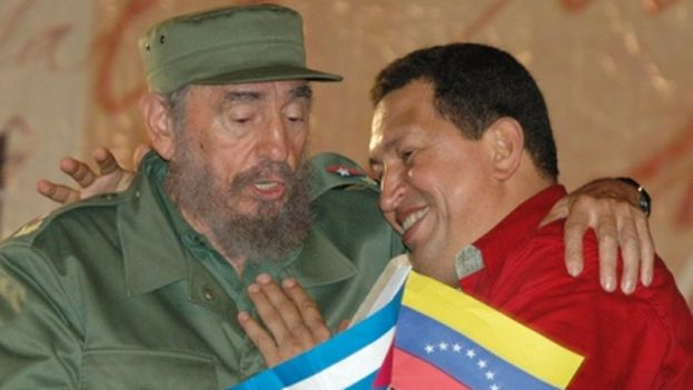 The Cuban president Fidel Castro and the late Venezuelan President Hugo Chavez. (DC)