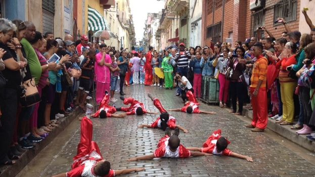 Festivities for the Lunar New Year in Havana's Chinatown. (14ymedio)