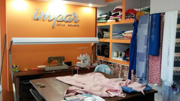 Impar, a dressmakers in Havana's Nuevo Vedado neighborhood managed by Yansa Muñiz. (14ymedio)