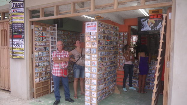 Disc store with music, movies and TV shows, in the city of Camagüey. (14ymedio)