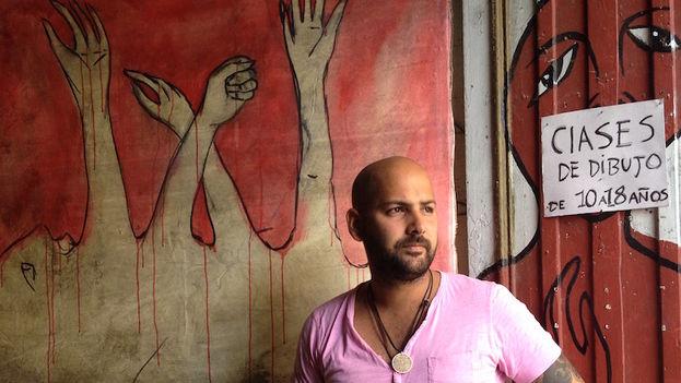 The artist Yulier Rodriguez Perez. (14ymedio)