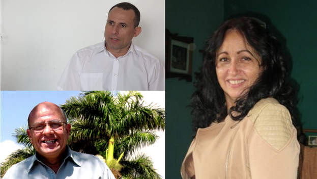Counterclockwise from top left: Jose Daniel Ferrer, Dagoberto Valdes and Miriam Celaya.