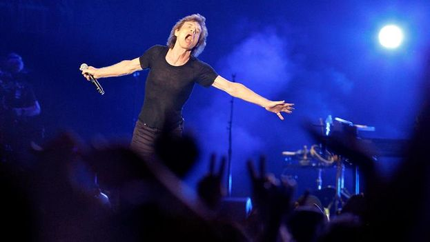 Mick Jagger in concert in Havana on March 25. (EFE/Ernesto Mastrascusa)