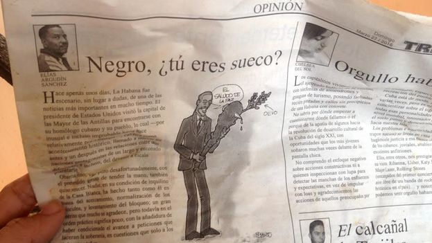 Page of the Havana Tribune with the article 'Negro, are you Swedish?' (14ymedio)