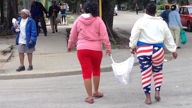 "The flag, better ""well adjusted"" some think. (14ymedio)"