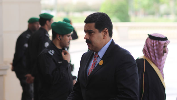 Nicolas Maduro enters the SAAC (South America and Arab countries) Summit on Wednesday in Riyadh. (Presidential press)