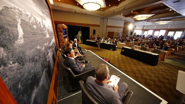 Panel at the Sedon Forum in Arizona last week. (@McCainInstitute)