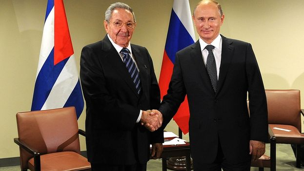 Raul Castro and Vladimir Putin in the Kremlin