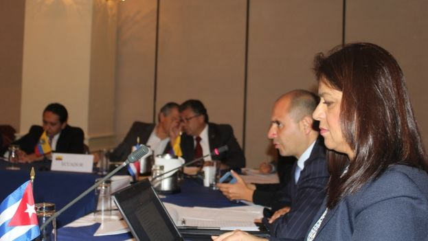 Meeting of the Central American foreign ministers Tuesday. (Costa Rica Foreign Ministry)