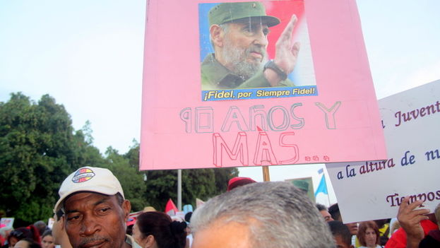 References to the upcoming 90th birthday of former President Fidel Castro also marked the day. (14ymedio)