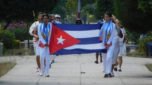 A group of Ladies in White march down Fifth Avenue in Havana. (Archive)