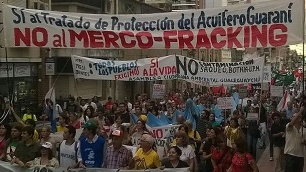 A demonstration against the costs of the Mercosur Summit in 2014. (Digital Analysis)