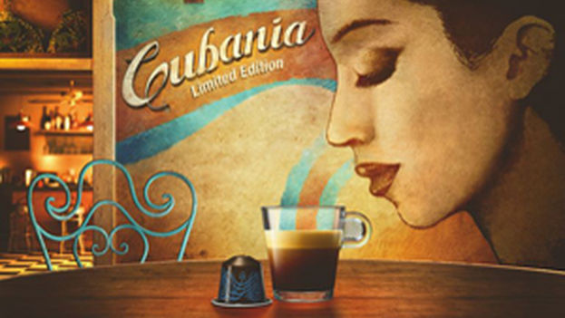 Nespresso advertising for a limited edition made in 2014 as a tribute to Cuban coffee. (Nestle)