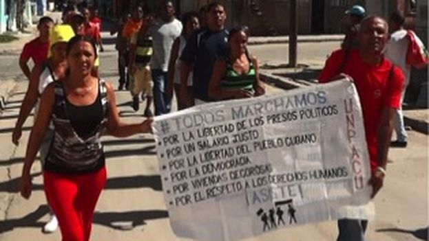 Patriotic Union of Cuba activists carry out marches in spite of frequent arrests (UNPACU)
