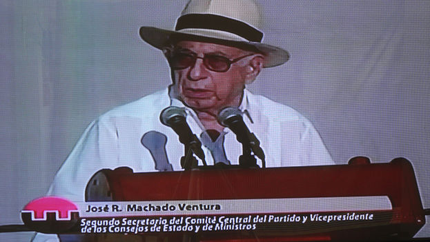 The vice president of the Councils of State and Ministers, Jose Ramon Machado Ventura. (Screenshot)