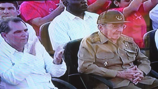 Raul Castro, who did not play an active part in the event, remained in the first row of the audience and left as soon as the ceremony ended. (Capture)
