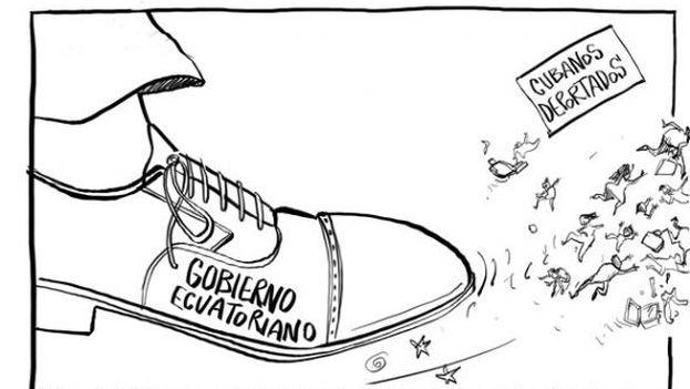 Caricature by Bonil, El Universo, 11 July.