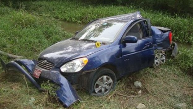 The car in which Harold Cepero and Oswaldo Payá were killed four years ago