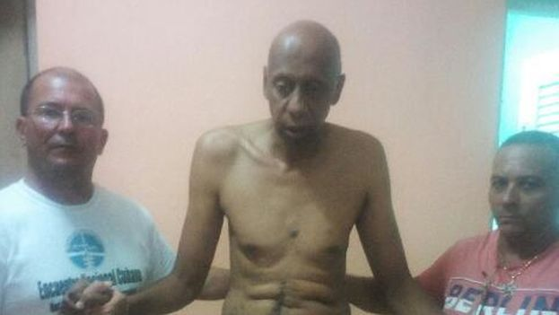 Guillermo Fariñas on hunger strike. (Courtesy)