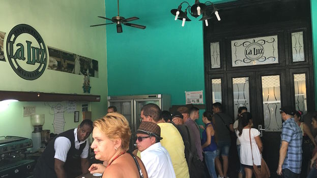The bar of La Luz Restaurant. (14ymedio)