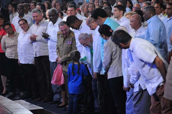 Fidel Castro at the Colmenita Gala event on the occasion of his 90th birthday (photo: Juvenal Balán/Granma)