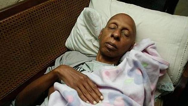 Guillermo Fariñas during his hunger and thirst strike. (Courtesy)