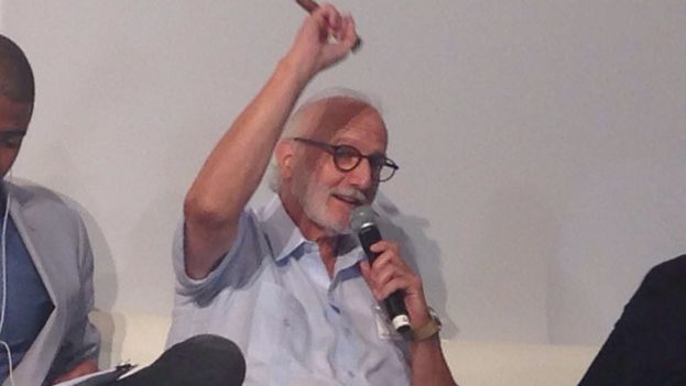 The US contractor Alan Gross on Tuesday at the Cuba Internet Freedom in Miami. (14ymedio)