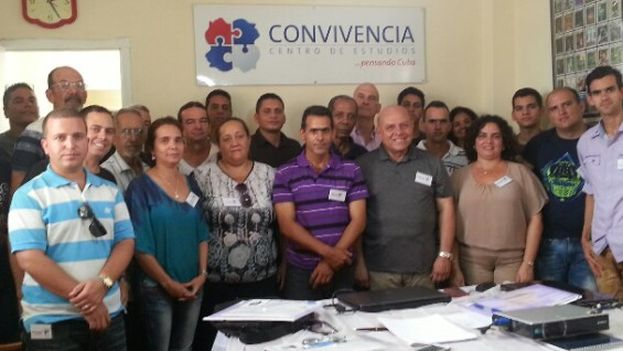 Members of the Coexistence Studies Center at a meeting in Pinar del Rio. (Coexistence)