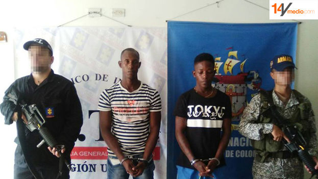 The alleged murderers of the two Cuban migrants in Colombia. (Colombian authorities)