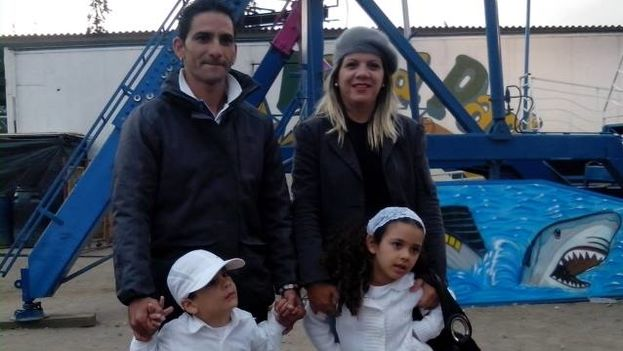 Yanela Vilche with her husband, Johans Tamayo, and their children, Fernanda and Fabio, in Quito, Ecuador.(Courtesy)