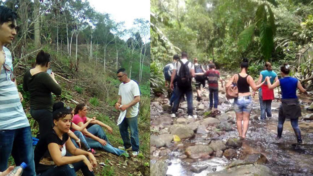 Cubans crossing the Darien jungle to get to Panama. (Courtesy to '14ymedio')