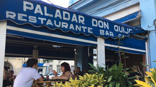 The Don Quijote paladar (private restaurant) on 23rd Street in Havana's Vedado district. (14ymedio)