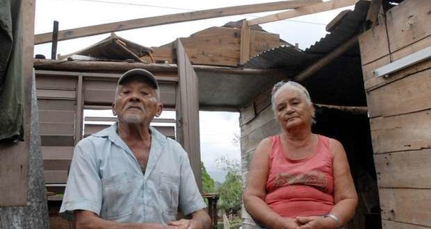Elderly married couple married in their house which was destroyed by Hurricane Matthew in Jesús Lores, El Marrón neighbourhood, Guantánamo. The photo, taken by Leonel Escalona Furones, was taken from the Venceremos newspaper.