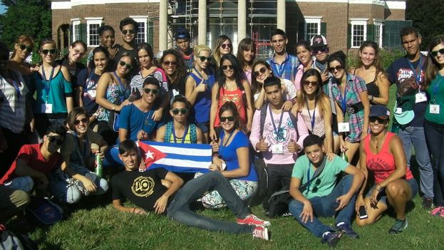 The first group of young Cubans who attended World Learning summer courses. (Courtesy)