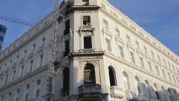 The Manzana Gomez hotel is being rebuilt in Havana.