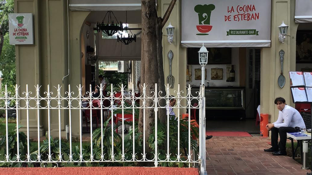 The Esteban Kitchen paladar (private restaurant) in Havana's in Vedado district. (14ymedio)