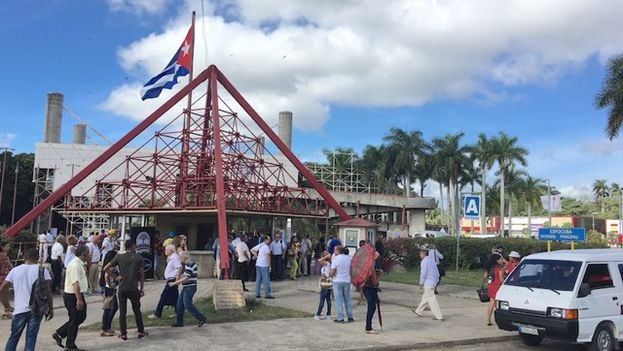 Entrance to the International Fair of Havana (FIHAV 2016). (14ymedio)