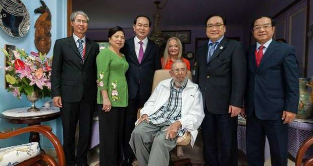 Fidel Castro with his wife and the president of Vietnam shortly before his death. See details at end of article.