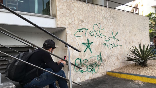 El Sexto's graffiti after the death of Fidel Castro. (14ymedio)