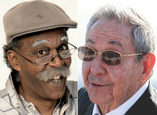 "Left: the TV character ""Ruperto"". Right: ""Ruperto in reverse"" aka Cuban president Raul Castro"