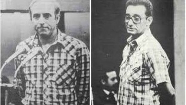 Antonio de la Guardia and Arnaldo Ochoa during their trial for drug trafficking in 1988. (CodigoAbierto)