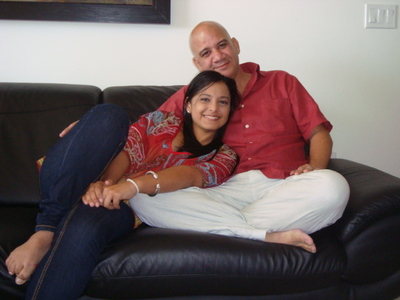 Juan Juan Almeida with his daughter, Indira, yesterday in Miami. The two had not seen each other for five years.